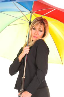 Free Young Girl With Umbrella Royalty Free Stock Photos - 1564538