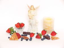 Free Fruit & Candle Royalty Free Stock Photos - 1564598