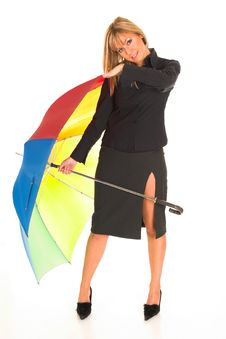 Free Young Girl With Umbrella Royalty Free Stock Image - 1564676