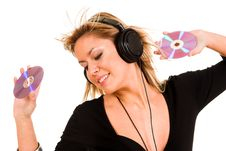 Free Woman Listening Music Royalty Free Stock Photography - 1565057