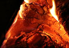 Free Fireplace Close-up Royalty Free Stock Photos - 1565398