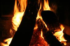 Free Fireplace Close-up Royalty Free Stock Images - 1565399