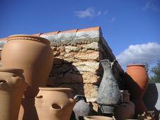 Free Spanish Pottery Scene Stock Photo - 1565910