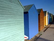 Free Beach Huts 01 Royalty Free Stock Image - 1566016