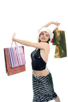 Christmas Shopping Mrs Santa Claus Royalty Free Stock Images