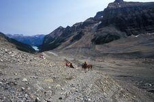 Free Hiking Above Lake Louise Stock Image - 1567631
