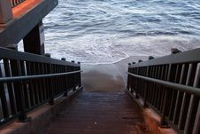 Stairway To Ocean Stock Photos
