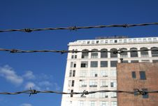 Free Barbed Wire Urban City Stock Photos - 1568773
