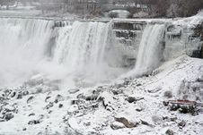 Free Niagara Falls In The Winter Stock Photography - 1568792