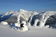 Ridge Skier Stock Images