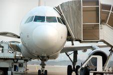 Jet Plane Landed Stock Photos