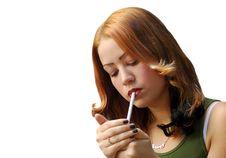 Teenager Smoking Stock Photos