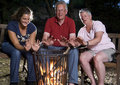Free Family At Campfire Stock Photography - 15601782