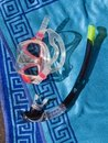 Free Snorkel  Underwater Face Mask On A Towel Stock Image - 15603411
