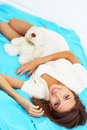 Free Girl And Teddy Bear Royalty Free Stock Images - 15608469