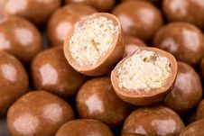 Free Chocolate Balls And Halves Royalty Free Stock Photo - 15600235