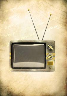 Free Grunge Vintage Television Stock Photos - 15600353