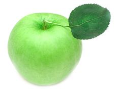 Free Ripe Green Apple With Green Leaf Royalty Free Stock Images - 15601139