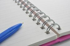 Free Notebook And Pen Stock Photo - 15601160