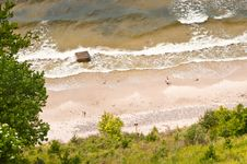 View From Above To Seashore Royalty Free Stock Images