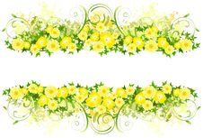 Free Floral Decoration With Yellow Flowers Royalty Free Stock Photography - 15602857