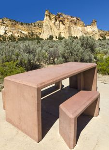 Picnic Table At Grosvenor Arch, Royalty Free Stock Images
