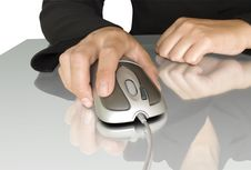 Free Computer Mouse In Hand Royalty Free Stock Image - 15603216