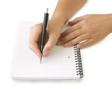 Free Pen In Hand Writing Royalty Free Stock Image - 15603276