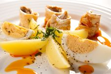 Free Marinated Herring Fillets Royalty Free Stock Photography - 15603457