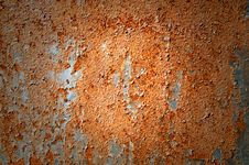 Free Oxidized  Metal Sheet Covered With Old Paint . Stock Photography - 15604022