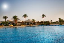 Free African Resort, Swimming Pool. Royalty Free Stock Photo - 15604335