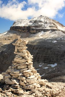 Free The Summit Of Piz Boa With A Cairn Stock Photos - 15604703