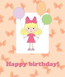 Free Card For Birthday Stock Image - 15604841