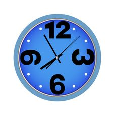 Clock Blue Stock Images