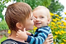 Free Mother Embracing Little Son Stock Photo - 15605420
