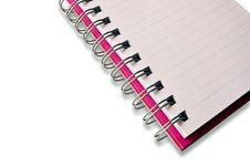 Blank Notebook Isolated Royalty Free Stock Image