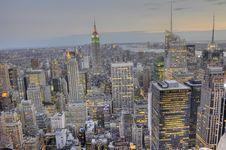 Midtown Manhattan Skyline Royalty Free Stock Photography