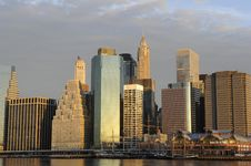 Downtown Manhattan Skyline Stock Photo