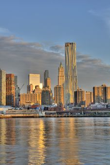 Downtown Manhattan Skyline Royalty Free Stock Photography