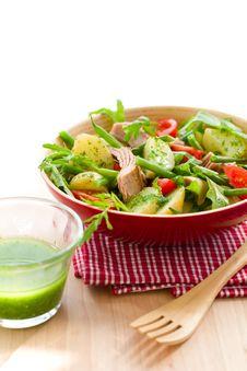 Potato And Tuna Salad Stock Photo