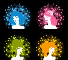 Free Girl With Butterflies Stock Images - 15607284