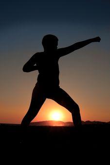 Karate Kid Royalty Free Stock Image