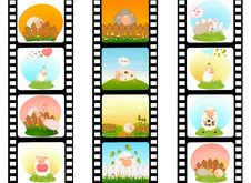 Free Blank Film Colorful Strip With Sheep Stock Image - 15607431