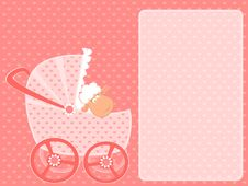 Free Sheep With Scribble Baby Carriage Royalty Free Stock Images - 15607459