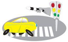 Free Cars, Traffic Lights, Pedestrian Crossing Stock Image - 15608021