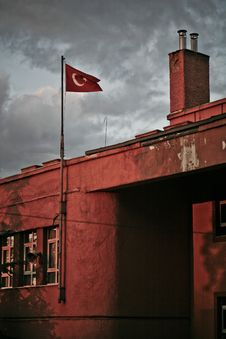 Free Turkish Flag Royalty Free Stock Photography - 15608377