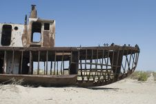 Free Boats Cemetary In Aral Sea Area Royalty Free Stock Image - 15608386