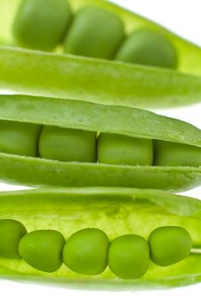 Pea Detail Royalty Free Stock Photography