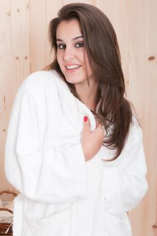 Free Beautiful Woman With Towel In Spa Stock Photography - 15608642