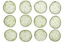 Free 12 Cucumber Slices Stock Image - 15609221